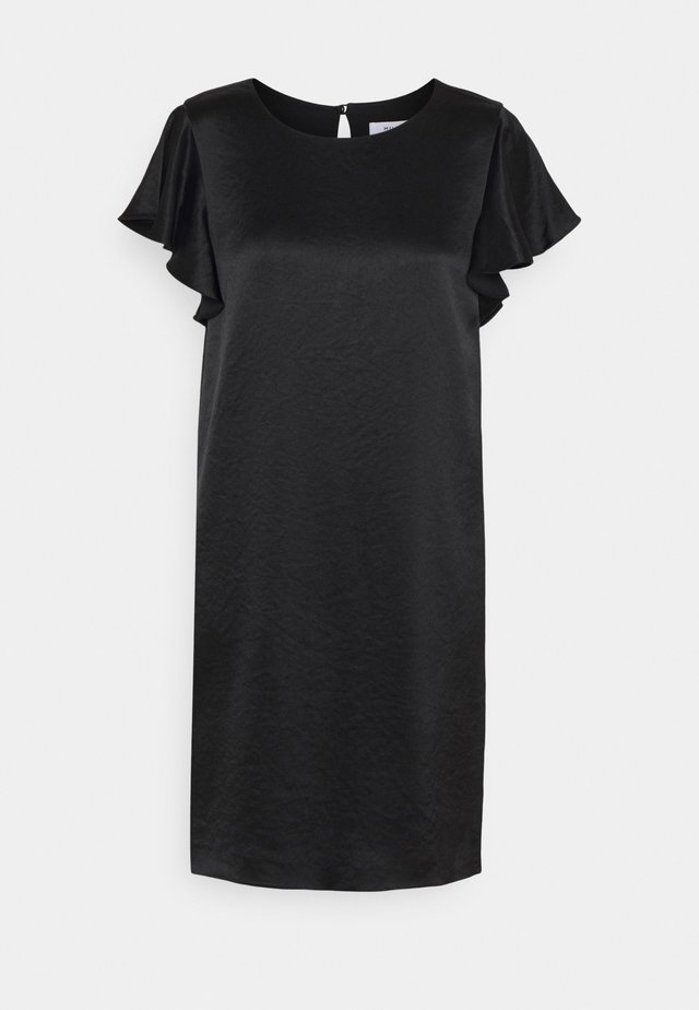 BRYCE RUFFLE DRESS - Sukienka koktajlowa - black