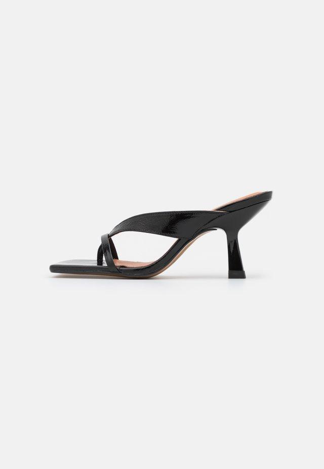 BABETH - T-bar sandals - brillant noir