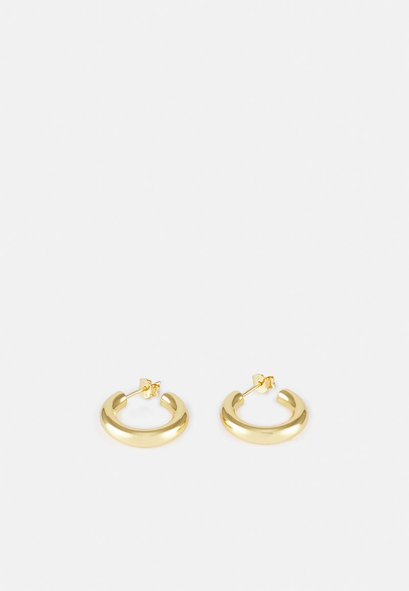 Orelia - LUXE SMALL CHUNKY HOOPS - Øreringe - pale gold-coloured