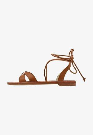 Ankle cuff sandals - hellbraun