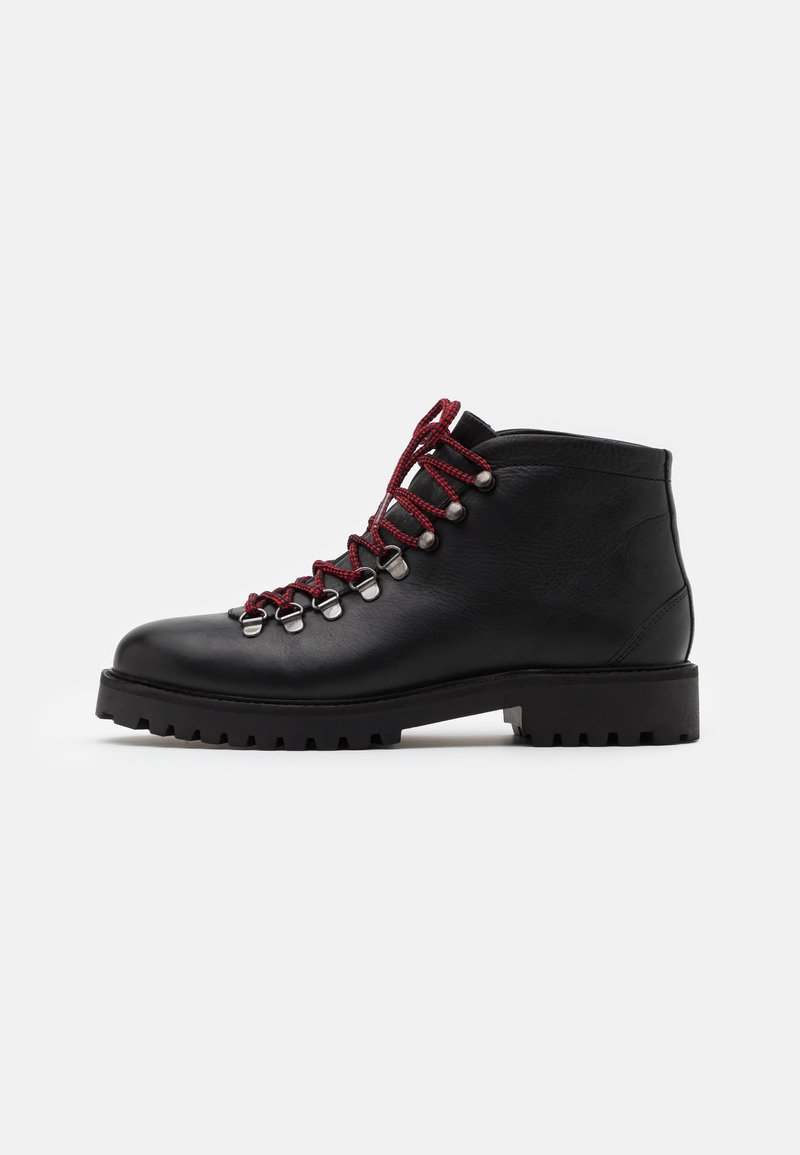 Walk London - SEAN LOW HIKER - Lace-up ankle boots - thunder black