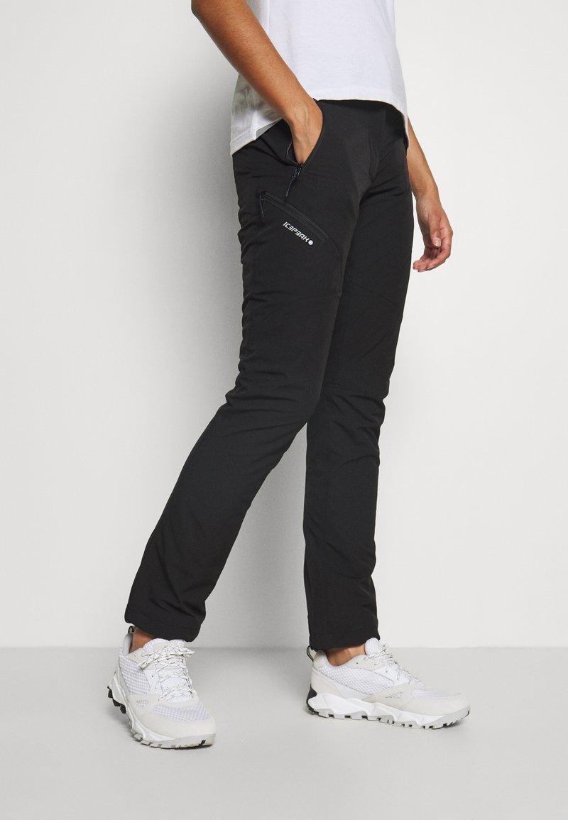 Icepeak - BONDVILLE - Pantalon classique - black