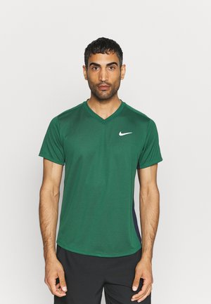 Basic T-shirt - gorge green/obsidian/white