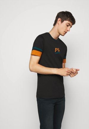 SLIM FIT - Print T-shirt - black