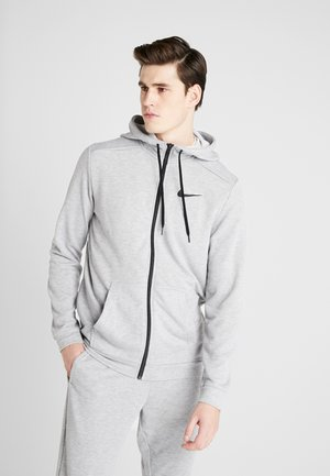 DRY HOODIE  - Huvtröja med dragkedja - dark grey heather/black