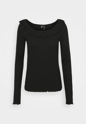 VMCLARA FRILL - Long sleeved top - black
