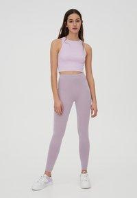 PULL&BEAR - Leggings - Trousers - purple - 1