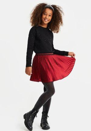 MET GLITTERDETAILS - A-lijn rok - vintage red