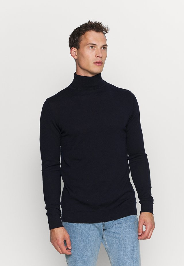 JOHANNES ROLL NECK - Strikkegenser - navy