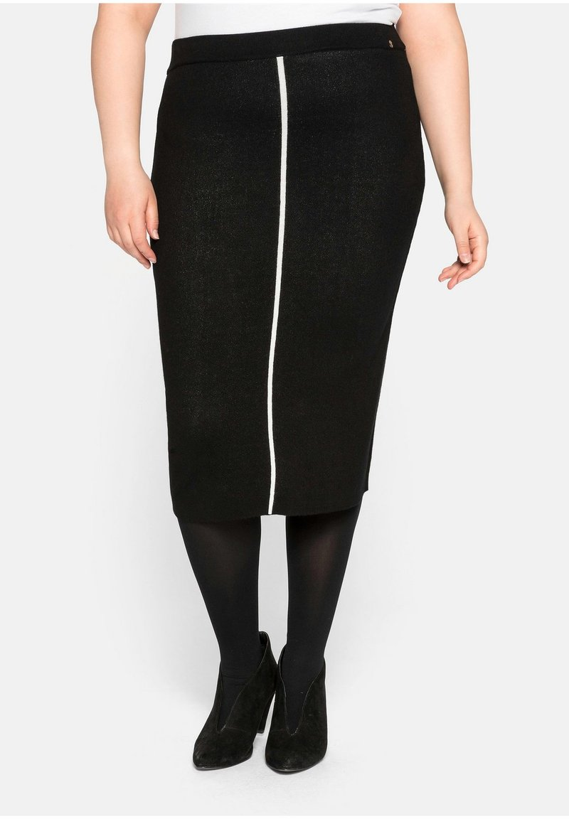 Sheego - Pencil skirt - schwarz
