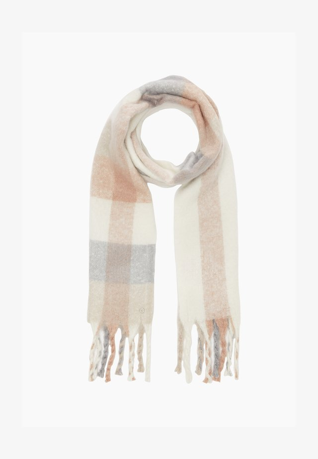 Scarf - beige check