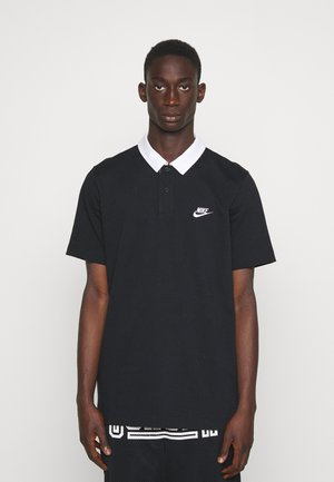 RUGBY - Koszulka polo - black/white
