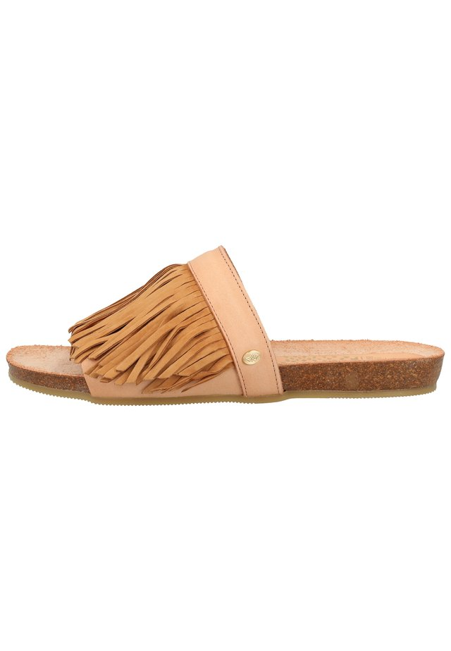 Mules - light brown 3360