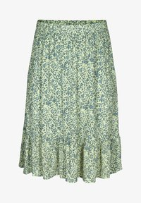 Zizzi - Pleated skirt - light green leaf - 2