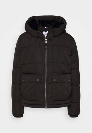 HOODED JACKET - Vinterjakker - black