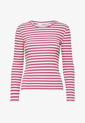 SLFANNA CREW NECK TEE - Långärmad tröja - rose violet