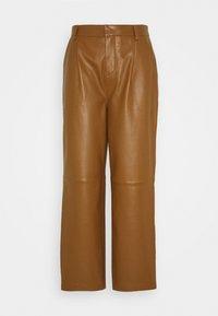 ALIAHGZ CULOTTE - Leather trousers - rubber