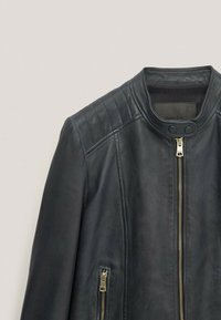 Massimo Dutti - Faux leather jacket - blue-black denim - 2