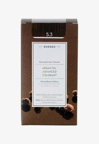 Korres - ARGAN OIL ADVANCED COLORANT - Hair colour - 5.3 golden/ honey light brown - 0