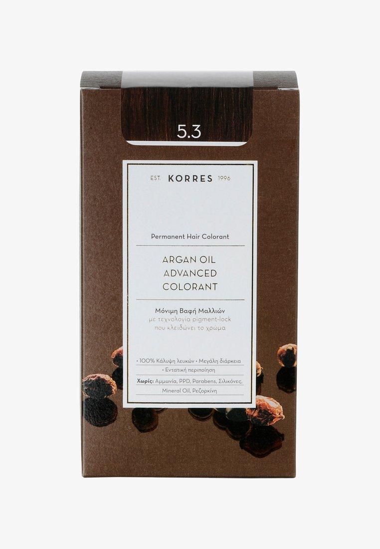 Korres - ARGAN OIL ADVANCED COLORANT - Hair colour - 5.3 golden/ honey light brown
