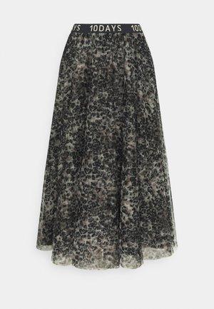 SKIRT LEOPARD - Maxi skirt - winter white
