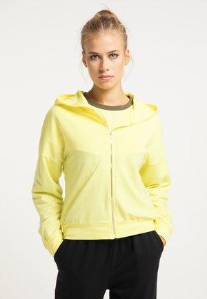 Zip-up hoodie - gelb