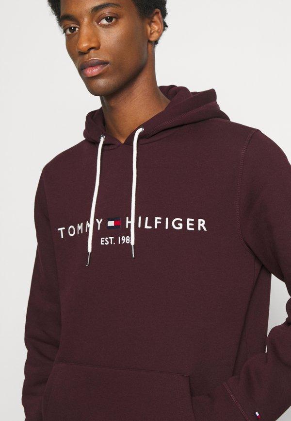 Tommy Hilfiger LOGO HOODY - Bluza z kapturem - deep burgundy/czerwony Odzież Męska MBGH