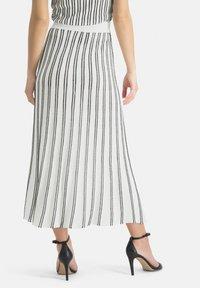 Nicowa - MINOWA - A-line skirt - white/black - 2
