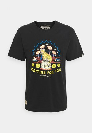 SEQUENCE X TIWEL 4 YOU - T-shirt imprimé - pirate black