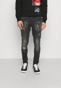 Alessandro Zavetti - BENZIO - Slim fit jeans - black wash - 0