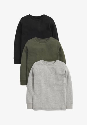 3 PACK - Long sleeved top - black