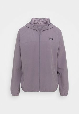 HOODED JACKET - Løbejakker - slate purple