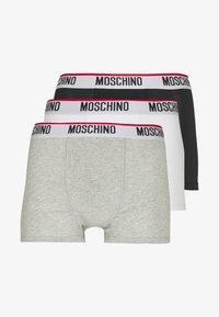 3 PACK - Pants - black/white/gray melange