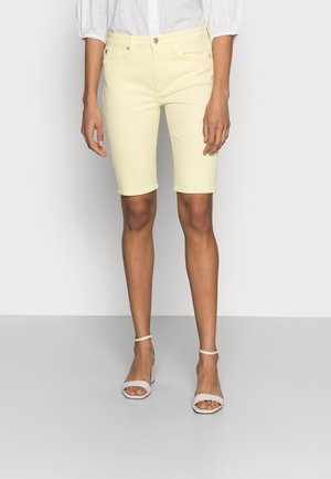 DENIM VENICE SLIM BERMUDA - Denim shorts - yellow