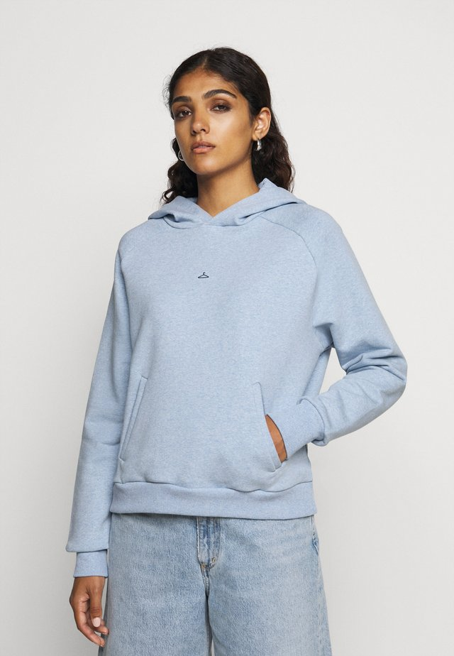 HANG ON HOODIE - Luvtröja - blue melange