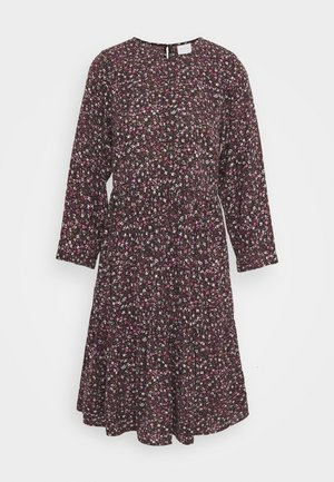 VIFLOWERY 3/4 SLEEVE DRESS - Kjole - black