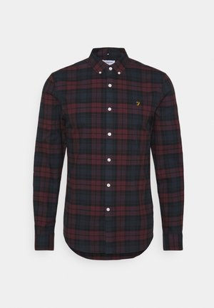 BREWER CHECK - Shirt - farah red