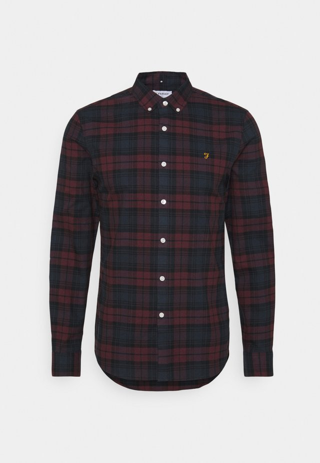 BREWER CHECK - Chemise - farah red