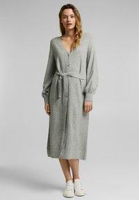 Esprit - LONG DRESS - Maxi dress - medium grey - 1