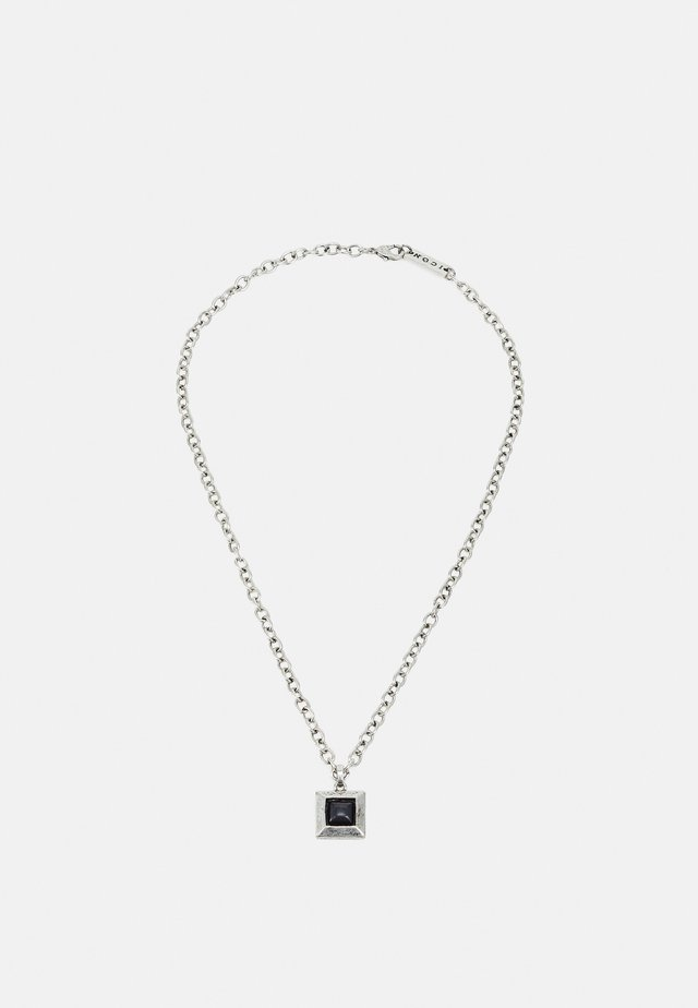 LUXE SQUARE NECKLACE - Necklace - silver-coloured