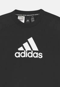 adidas Performance - CREW UNISEX - Mikina - black/white - 2