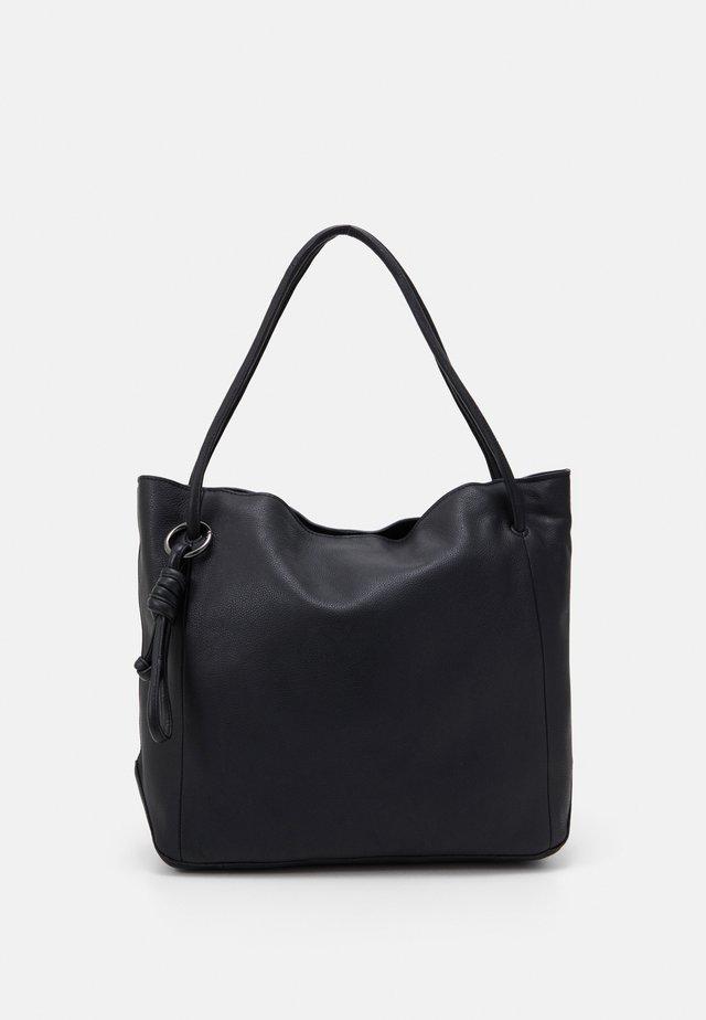 LEATHER - Shopping bag - black