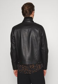 Theory - PATTERSON LEATHER OVERSHIRT - Leather jacket - black - 2