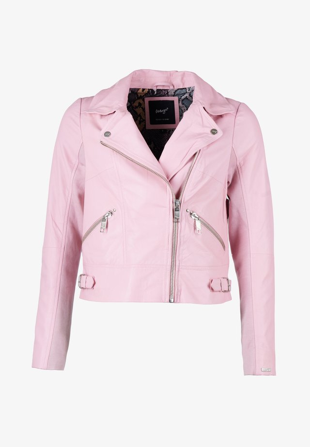 Leather jacket - pink
