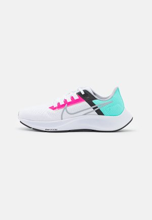 AIR ZOOM PEGASUS 38 - Neutral running shoes - white/wolf grey/hyper pink/dynamic turquoise/black/barely green