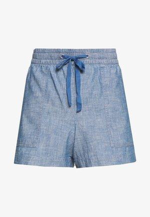 V-PULL ON UTILITY - Shorts - blue chambray