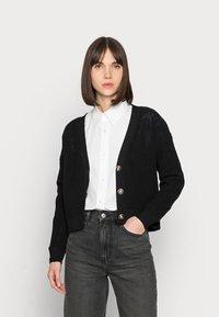 Selected Femme - SLFSINNA CARDIGAN - Cardigan - black - 0