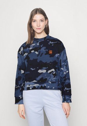 LOOSE FIT CAMO CREWNECK - Sweatshirt - faze blue multi