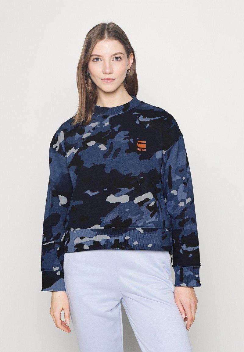 G-Star - LOOSE FIT CAMO CREWNECK - Sweater - faze blue multi