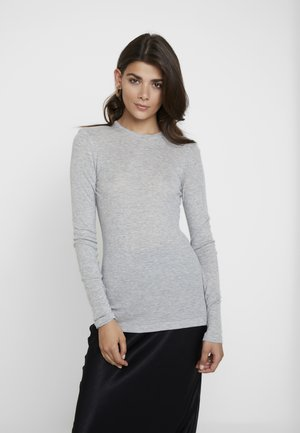 MONA - Long sleeved top - mottled light grey